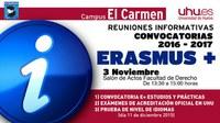 ERASMUS +, convocatoria 2016-2017